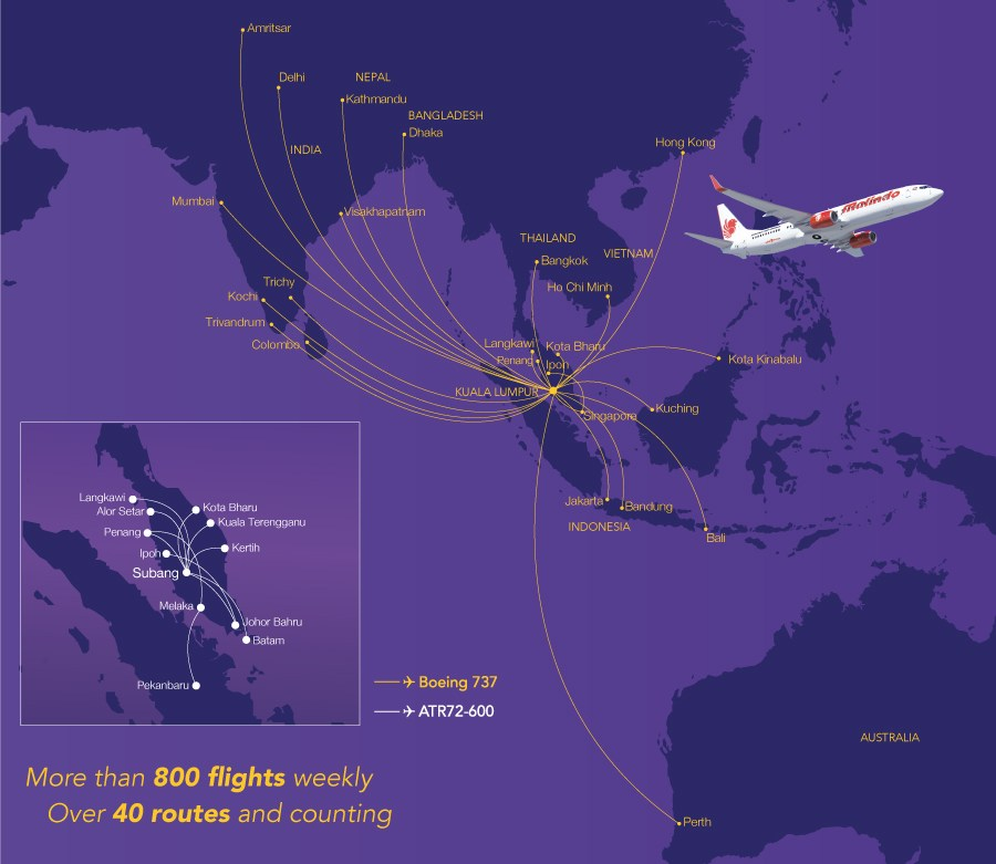 Malindo Air Route Map