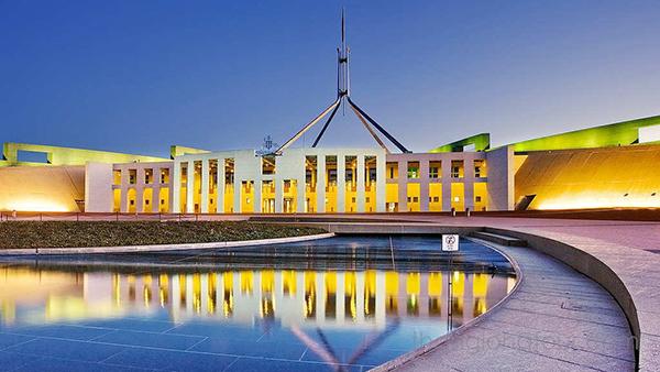 Toa nha quoc hoi Canberra aus