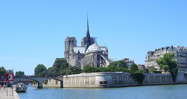 Paris Ile de la Cite Notre Dame von Osten
