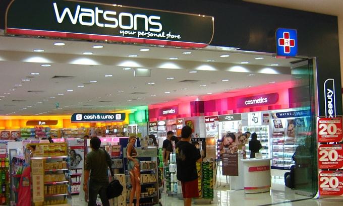 Watsons Chemist thai lan