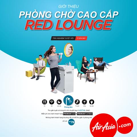 Photo of Air Asia tiện ích phòng chờ ở sân bay KLIA2