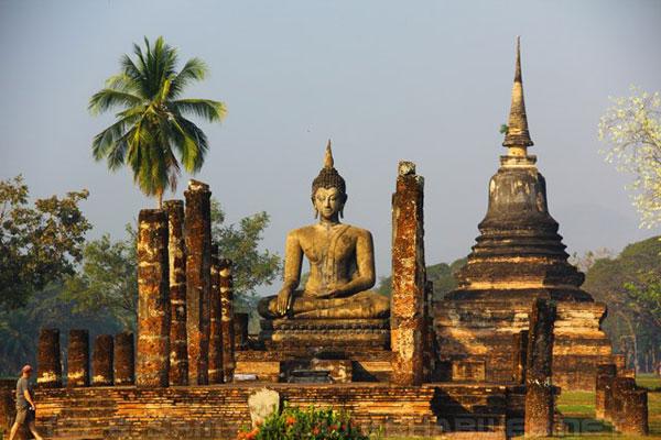 wat mahathat o thai lan